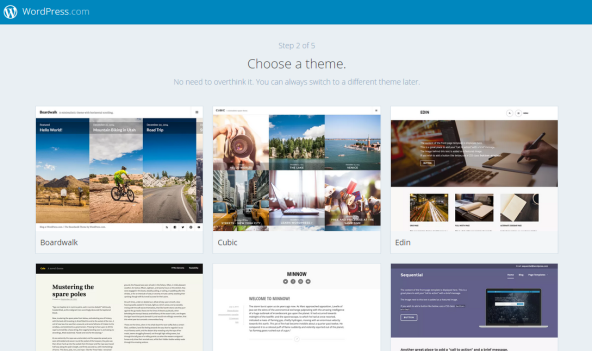 wordpress choose theme