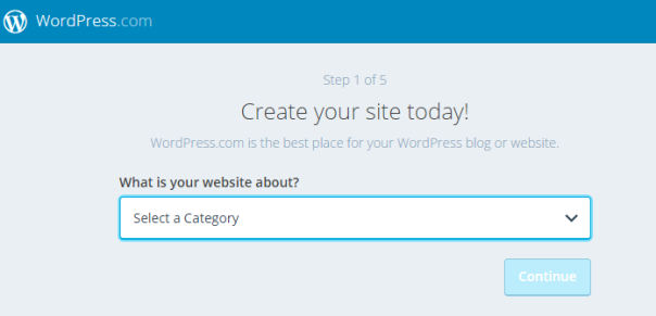 wordpress create website